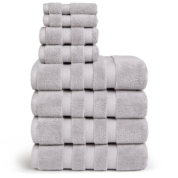 Infinity Zero Twist 8 Piece 100% Cotton Towel Set by Vivendi Home